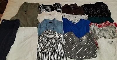 Women's XL Spring/ summer Cothing lot Tops and Bottoms 16 Pieces
