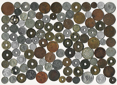 200 Old Asia Coins Thailand Japan China Philippines & More (You Id) No Reserve