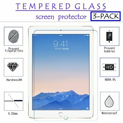 3X Premium Tempered Glass Clear LCD Screen Protector for Apple iPad Pro 9.7