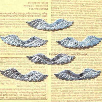 120Pcs Angel Wing Patches Sew-on Appliques/Kid Craft Scrapbooks Accessory Silver