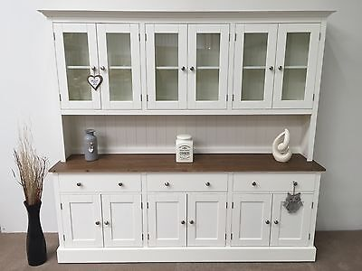 7ft New Solid Pine Painted Welsh Dresser Dinning Kitchen Unit