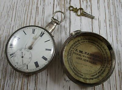 John Houghton Fusee Liverpool Sterling Silver Pair Case Key Serial 20264 Parts