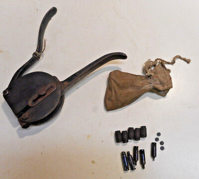 L1019- Antique Early Patent Date Whitney No. 4 Hand punch w/ dies Collectible