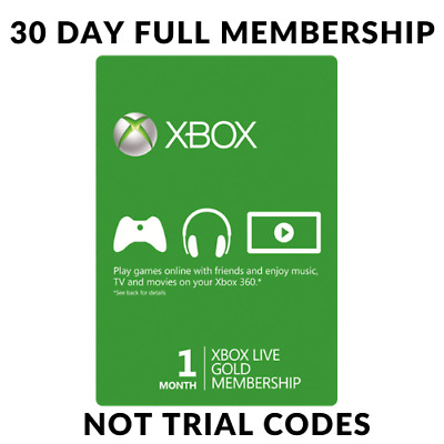 Microsoft 1 Month (30 Days) Xbox Live Gold Membership  Quick Delivery!