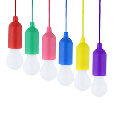 new style 68b14 97420 CHANGE COLOR LED Pull-Cord Light Bulb Reading Hanging Lamp ...