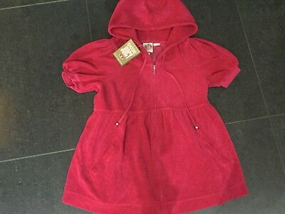 NWT Juicy Couture New & Gen. Ladies Small Pink Cotton Towelling Maternity Hoody