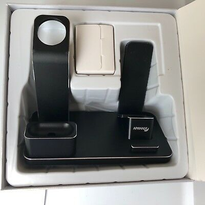 APANAGE Life Dock - Apple Watch Stand Aluminum Charging Docks Holder 4 in 1