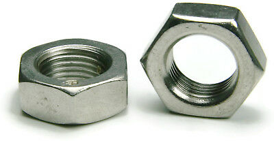 316 Stainless Steel Jam Thin Hex Nuts - All Sizes - QTY 25