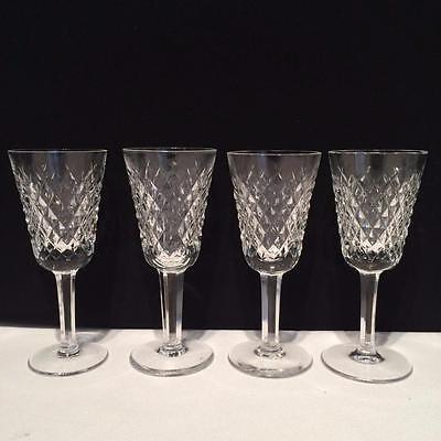 Cr1420 Waterford Alana Crystal Set Of 4 Sherry Glasses