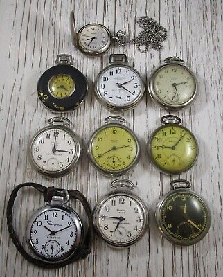 Pocket Watches Dollar Watches Lot of 10 Vintage