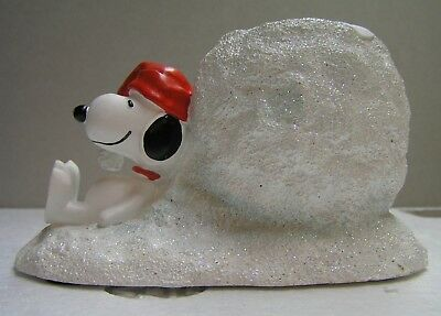 Dept 56 Peanuts Snoopy Christmas Votive Candle Holder NEW MINT