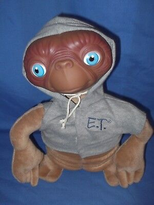 E.T soft toy by Applause wearing grey Jumper 12'' high in lovely condition