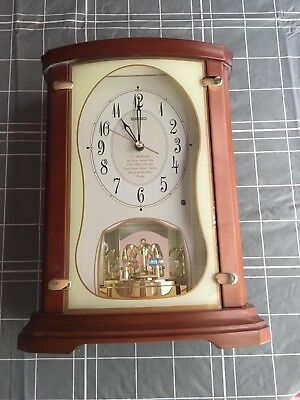 SEIKO QXW112BRH MELODIES IN MOTION CLOCK-used, great condition