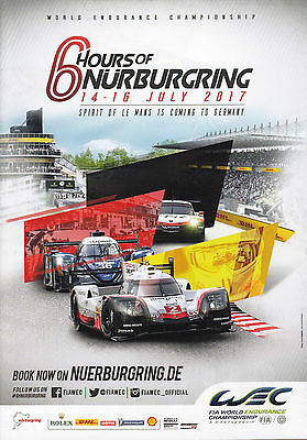 Programm Event Guide 6h of Nürburgring 2017 WEC FIA World Endurance Championship