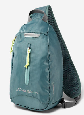 NWT EDDIE BAUER Stowaway 10L Packable Sling Bag Azure Lightweight Travel  Pack b9db7389de2da