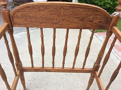 Vintage Jenny Lind Wooden Baby Crib.