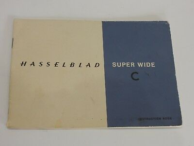 Hasselblad Super Wide C Instruction manual.  Good condition.