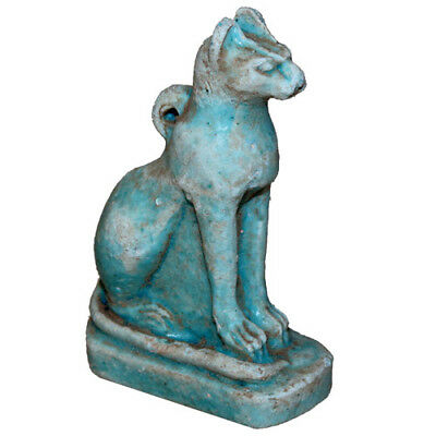 Museum Quality Egyptian Faience Amulet Statue Cat Circa 1000 Bc