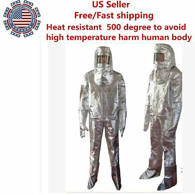 Thermal Radiation 500 Degree Heat Resistant Aluminized Suit Fireproof Clothes KG