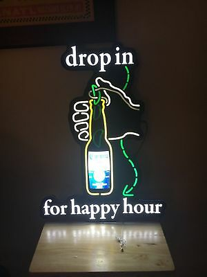 Corona Extra Beer Motion Sign Lighted LED Tiki Bar Beach Pub Happy Hour NEW!
