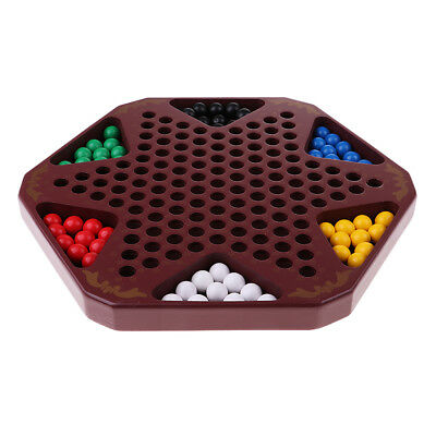 Chinese Checkers Family Game Set with Wooden Chessboard and Chess Pieces