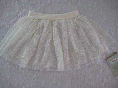 NWT!  PERSNICKETY HEIDI LACE Tiered Tutu Skirt in WHITE, size 7