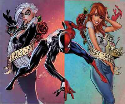 AMAZING SPIDERMAN 801 & 1 vol 5 J SCOTT CAMPBELL VARIANT 2 PACK SET NM