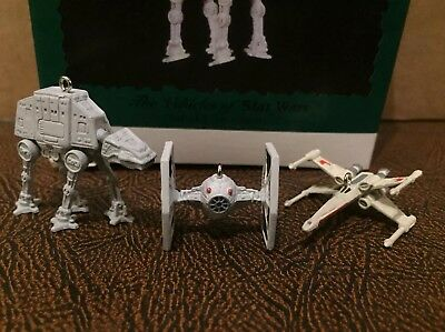 Vehicles Of Star Wars Vintage Hallmark Keepsake Ornaments 1996