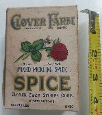 Vintage Spice Box ~ CLOVER FARM MIXED PICKLING SPICE
