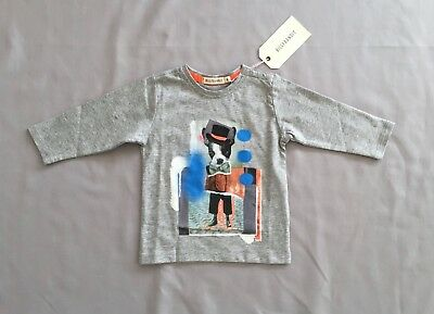 Nwt Billybandit Baby Boys Dog Top Sz 9 Months *see Free Post Deal