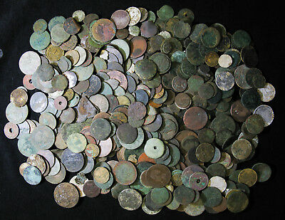 Buried Treasure!  Over 3 Pounds of Dirty Beat Up Cull Coins