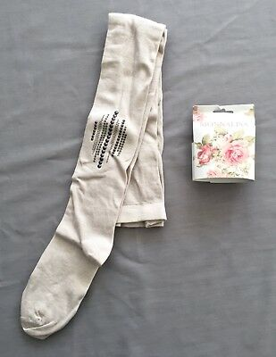 NEW MONNALISA GIRLS LIGHT GREY TIGHTS SZ 12 years 152 RRP $89.00