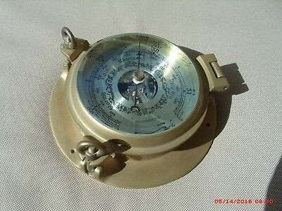 Brass Barometer, In Very Good Condition