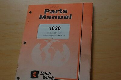 ditch witch 5110 trencher parts manual book catalog 40 00 picclick rh picclick com ditch witch 1330 parts list ditch witch 1330 owners manual