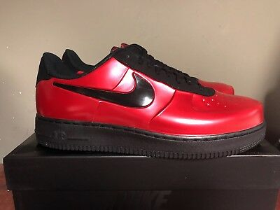 4dfcede7548 Nike Air Force 1 Foamposite Pro Cup Red Metallic Red- Black AJ3664-601 NEW