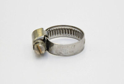 """Stainless Steel Hose Clamps 12-22mm for 1/2 """" Tubes Hose Clamp Clamp"""