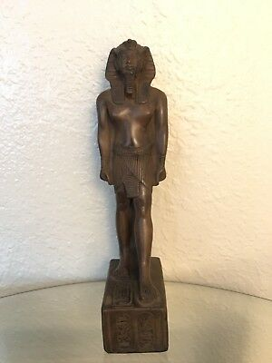 Ancient Egyptian King Ramsis II Class A Statue (Made In Egypt( Color Brown