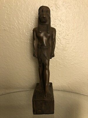 Ancient Egyptian God Sekhmet Class A Statue (Made In Egypt) Color Brown