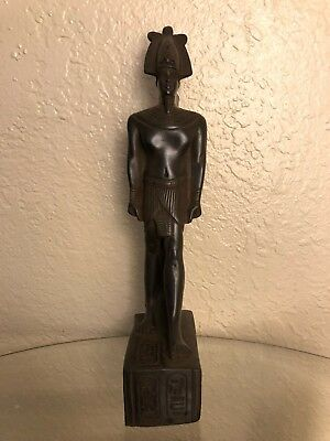 Ancient Egyptian King Ramsis II Class A Statue (Made In Egypt) Color Black