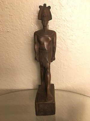 Ancient Egyptian King Ramsis II Class A Statue (Made In Egypt) Color Brown