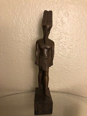 Ancient Egyptian God Amun Ra Statue (Made in Egypt) Class A ( Color Brown )