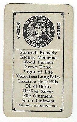 Prairie Herb Remedies late 1800's medicine trade card