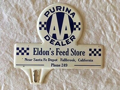 Old Eldon's Feed Store Purina Chow Dealer License Plate Topper Fallbrook Calif
