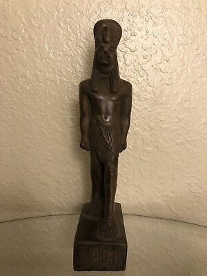 Ancient Egyptian God Sekhmet Class A Statue Made In Egypt Color Brown Size M