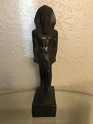 Ancient Egyptian King Akhenaten Class A Statue Made In Egypt Color Black Size M