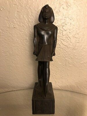 Ancient Egyptian King Ramsis II Class A Statue Made In Egypt Color Black Size M