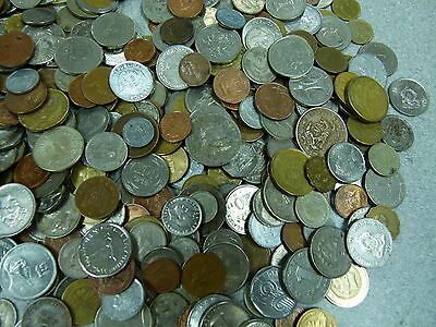 5 LB Of Mixed World Foreign Coin BONUS- Silver Six Pence Included