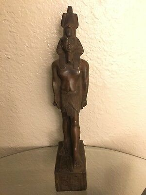Ancient Egyptian King Ramsis II Class A Statue Made In Egypt Color Brown Size M