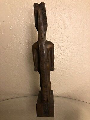 Ancient Egyptian God Amun Ra Class A Statue Made In Egypt Color Brown Size M