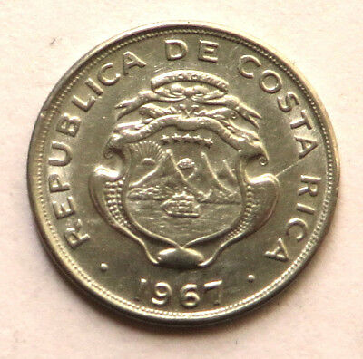Costa Rica 5 Centimos 1967(s) Stainless Steel KM#184.1a